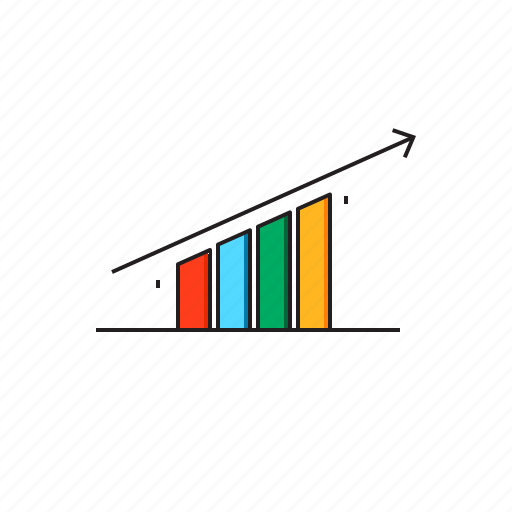 bar, business, graph, growth, market, share icon