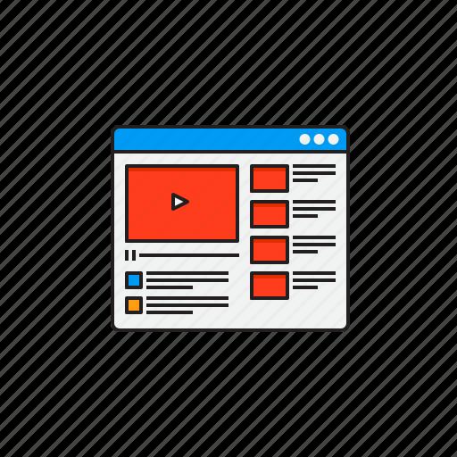 channel, digital, marketing, video, youtube icon
