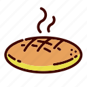 bread, breakfast, dinner, food, lunch, pastry, restaurant icon