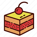breakfast, cake, dessert, dinner, food, pastry, restaurant icon