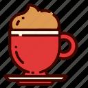 coffee, cream, cup, drink, food, mug, restaurant icon