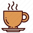 coffee, cup, drink, food, restaurant, tea, utensils icon