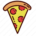 breakfast, dinner, fast, food, pizza, restaurant, slice icon