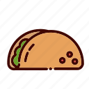 breakfast, dinner, fast, food, lunch, restaurant, taco icon