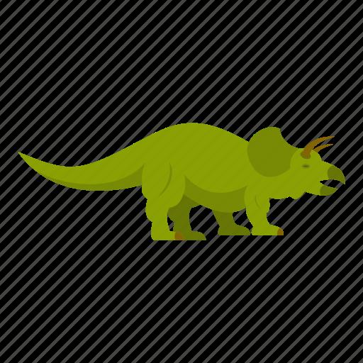 animal, ceratopsians, dinosaur, jurassic, predator, reptile, styracosaurus icon