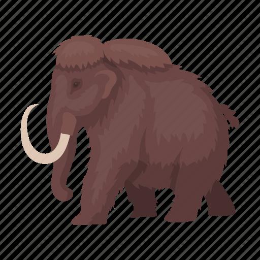 ancient, animal, mammoth, prehistoric, tusk icon