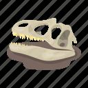 bone, dinosaur, prehistoric, skull icon