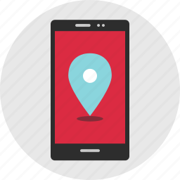cell, gps, location, online, phone icon