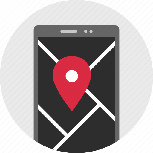 cell, gps, location, online, phone, pin icon