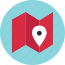 direction, gps, location, map, online, pin icon