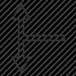 bifurcation arrow, choice, connection, divide, down up, navigation, split arrows icon
