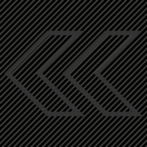 arrow, back, history, pointer, previous, shift left, undo icon