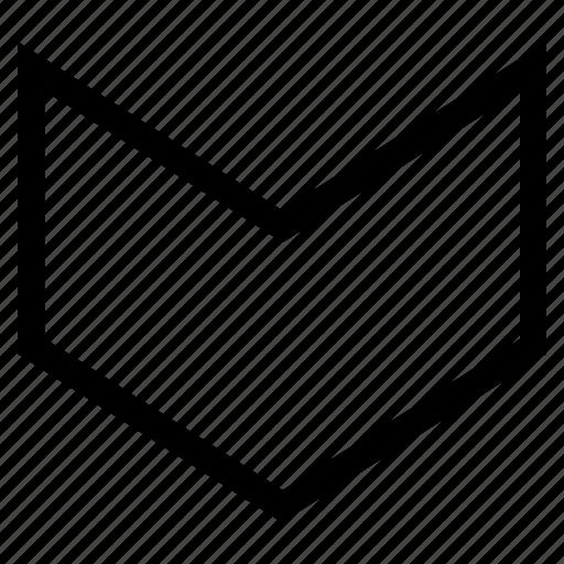 arrow head, arrowhead, direction, down, download, move, orientation icon