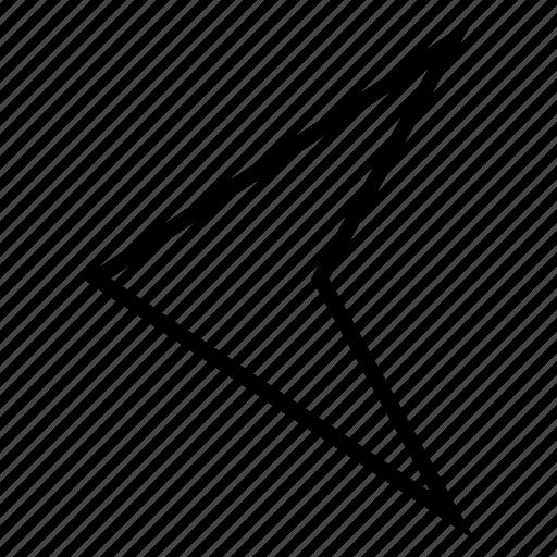 arrow left, arrowhead, direction, navigation, pointer, previous, undo icon