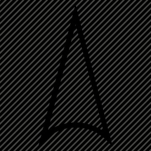arrow head, arrowhead, direction, move, orientation, pointer, send up icon