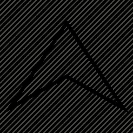arrow up, arrowhead, direction, forward, move ahead, send, shift icon