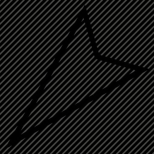 cursor, direction, down left, indicator, navigation, orientation, pointer icon