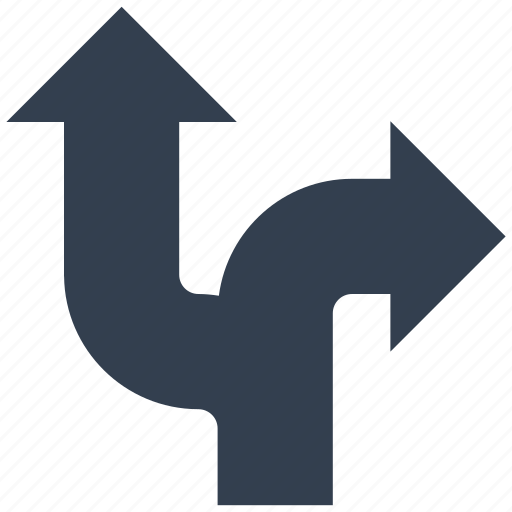 arrows, directional, signs, two icon