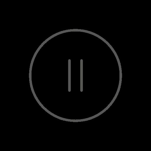 control, pause icon