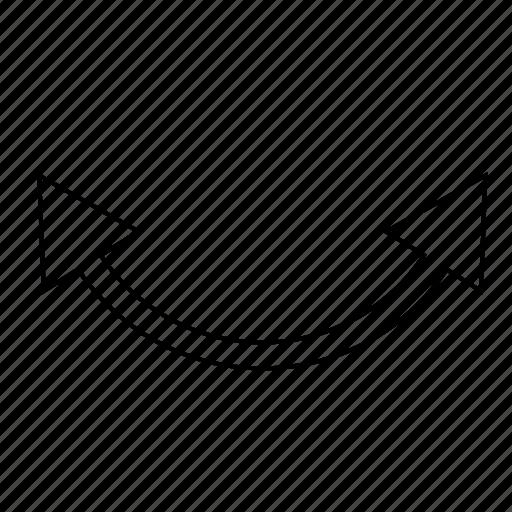 arrow, direction, horizontal, rotate icon