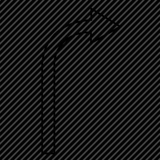 arrow, right, road, turn, way icon
