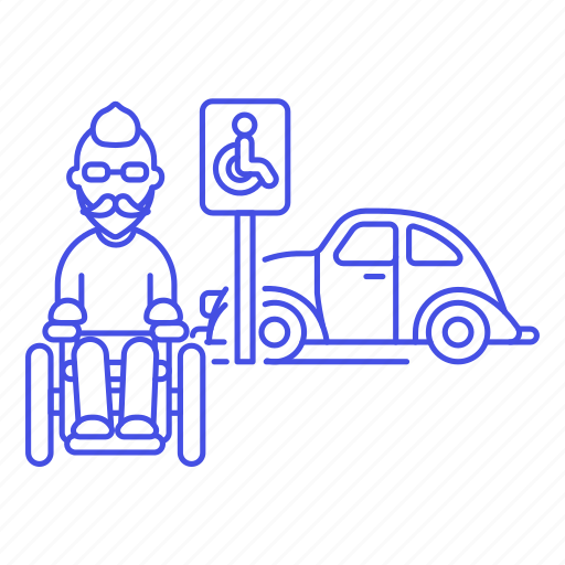 1, aid, disability, disable, disabled, male, mobility, parking, reserved, sign, space, wheelchair icon