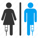 bathroom, disability, disabled person, handicap, patient toilet, restroom, wc persons icon