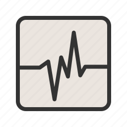 earthquake, electronic, graphic, line, monitor, screen, technology icon