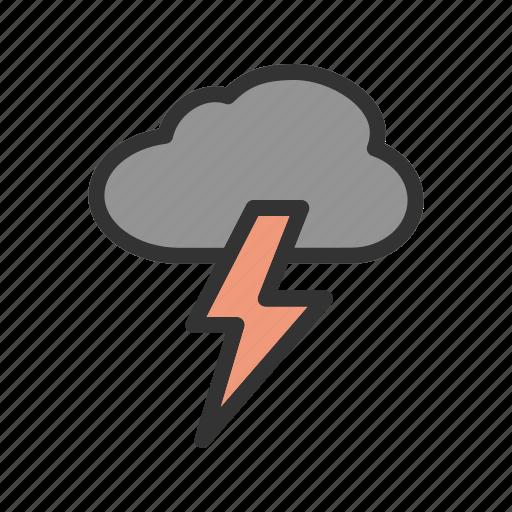 dark, energy, light, lightning, storm, thunder, thunderstorm icon