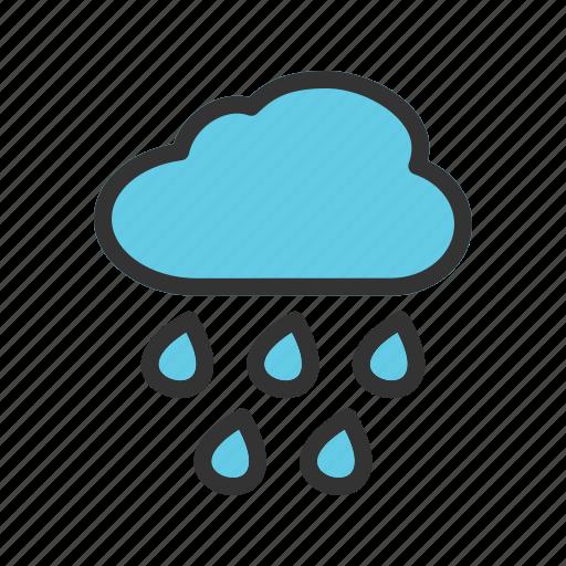 heavy, hurricane, rain, storm, trees, weather, wind icon