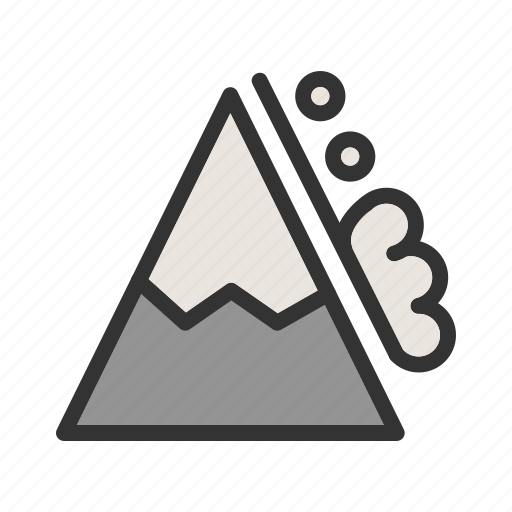 danger, disaster, landscape, mountain, snow, white, winter icon