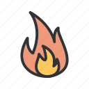 danger, fire, flame, heat, house, safety icon