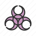 disease, epidemic, hazard, health, sign, toxic, virus icon