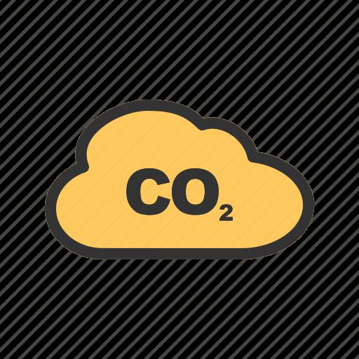 carbon, dioxide, gas, global, pollution, smoke, warming icon
