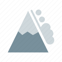 danger, disaster, landscape, mountain, snow, white, winter icon