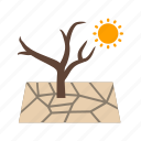 dry, land, nature, soil, dead, cracked, drought icon