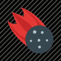 asteroid, disaster, dust, effect, meteorite, sparkle, star icon