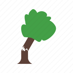damage, fallen, house, storm, tornado, tree, wind icon