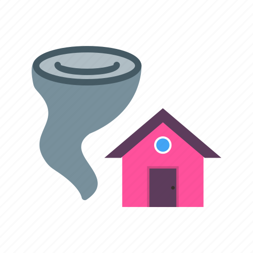 disaster, house, storm, tornado, twister, wall, wind icon