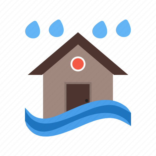 disaster, flood, heavy, rain, storm, water, weather icon