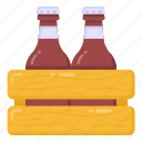 wine crate, wine, alcohol, wine bottles, beer crate icon