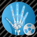 bone, diseases, hand, treatment, xray icon
