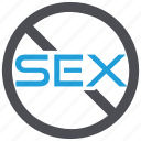 contraceptives, no sex, protection, sexual disorder icon