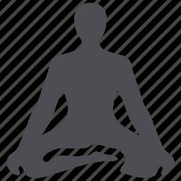 exercises, fitness, meditating, meditation, yoga icon