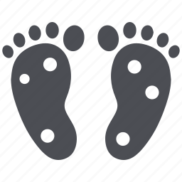feet, foot, massage, pain, reflexology icon