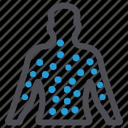 allergy, dermatology, measles, rash, rubella, skin, spot icon