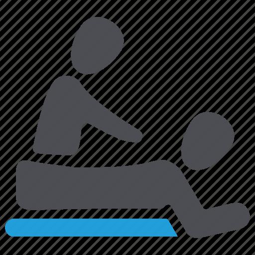 back massage, body massage, health spa, massage, relaxation, spa, wellness icon