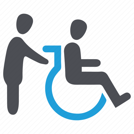 disable, handicap, mentally, paralyzed, patient, wheelchair icon