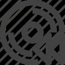 backward, disc, disk, storage icon
