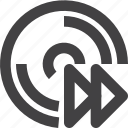 disc, disk, forward, storage icon